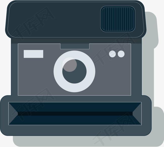 矢量图水彩蓝色复古相机素材图片免费下载 高清psd 千库网 图片编号10171937