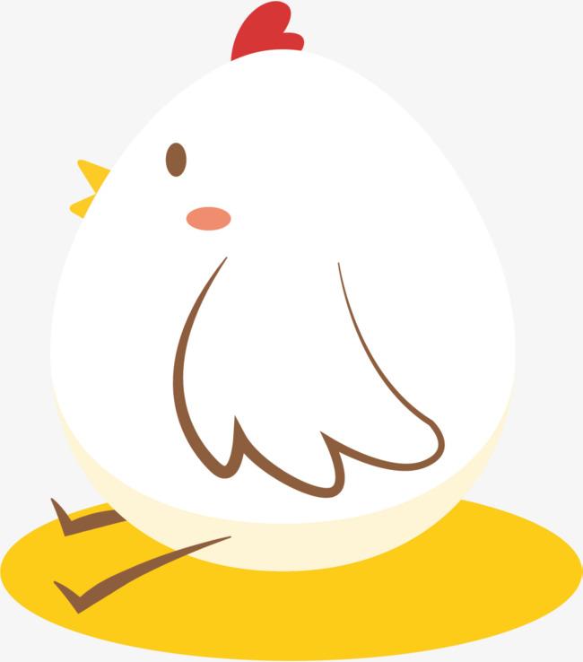 白色可爱卡通彩蛋小鸡图片