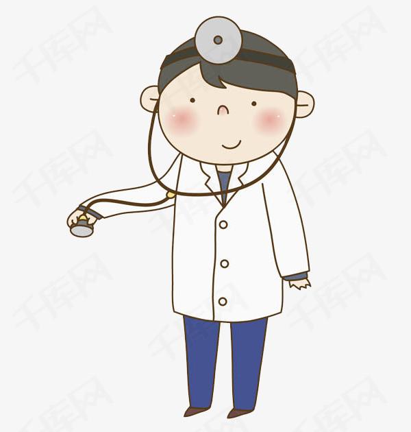 卡通戴着听诊器的医生图片