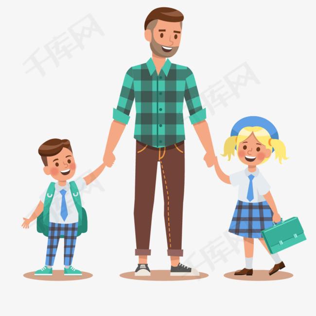 爸爸和孩子卡通图图片