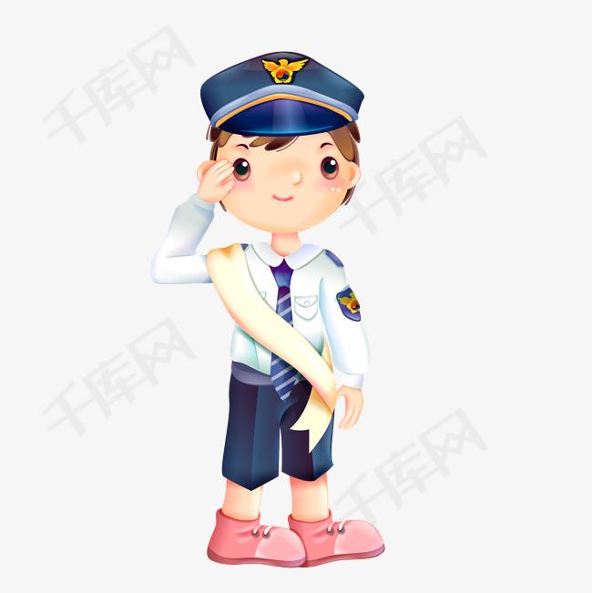 矢量手绘敬礼女警察素材图片免费下载 高清psd 千库网 图片编号10241148
