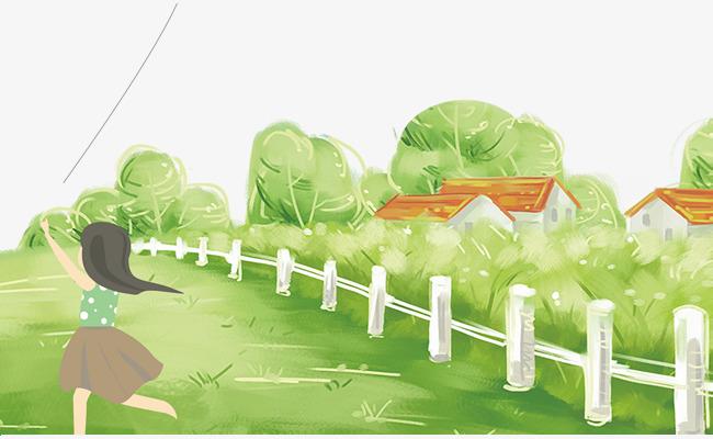 唯美春季放风筝海报素材图片免费下载 高清psd 千库网 图片编号图片