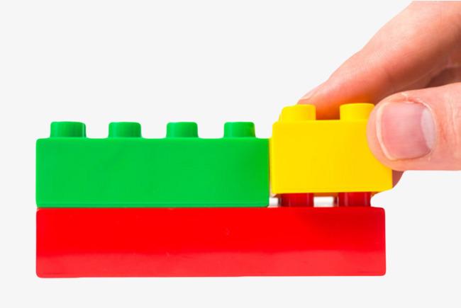 千库网 图片素材 玩具可回收的塑料积木实物