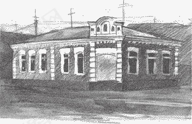 学校建设 矢量手绘素描建筑素材图片免费下载 高清psd 千库网 图片编号10302433