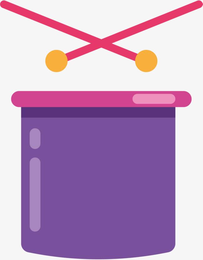 紫色闪耀扁平玩具鼓素材图片免费下载_高清png_千库网