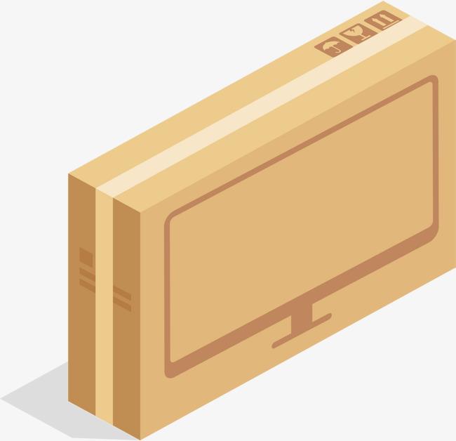 千库网 图片素材 电脑显示器包装箱png下载