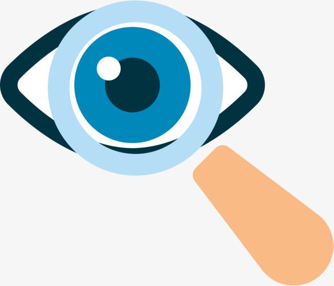 视力检查眼睛放大镜素材图片免费下载_高清png_千库网