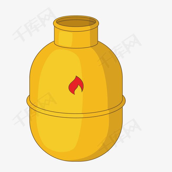 黄色卡通煤气罐设计图片