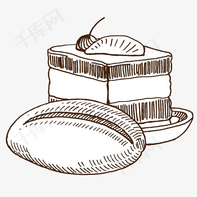 手绘早餐松饼手绘早餐松饼和咖啡咖啡矢量食物手绘松饼早餐