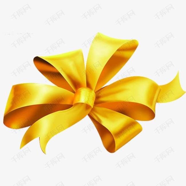 黄色蝴蝶结