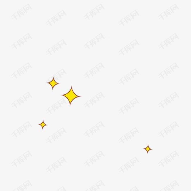卡通漂浮菱形星星