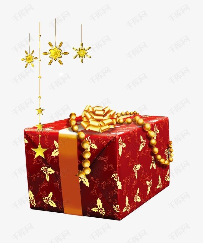 红色花纹蝴蝶礼盒