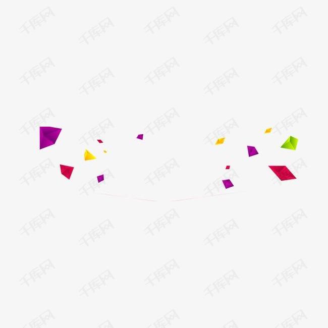 几何扁平立体彩色碎块