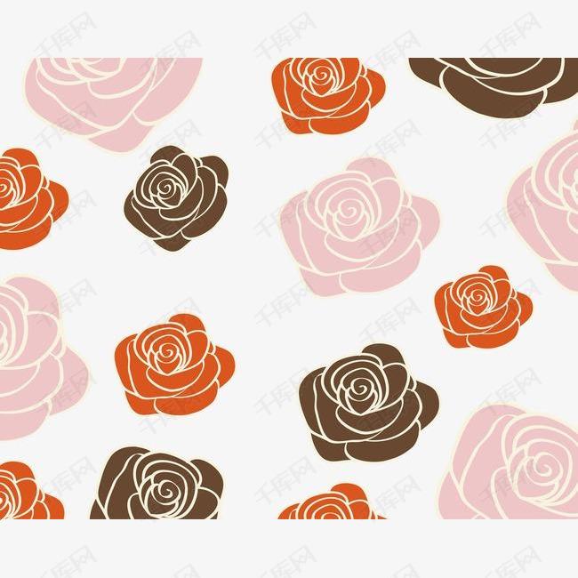 卡通玫瑰花底纹