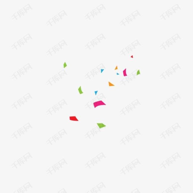 几何碎片彩色