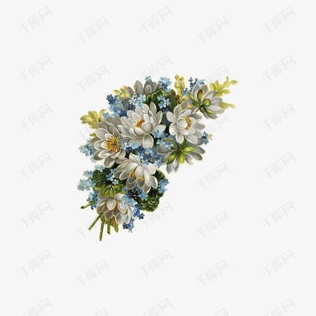 手绘英伦风图片日常生活 花朵素材图片免费下载 高清装饰图案png 千库网 图片编号39834图片