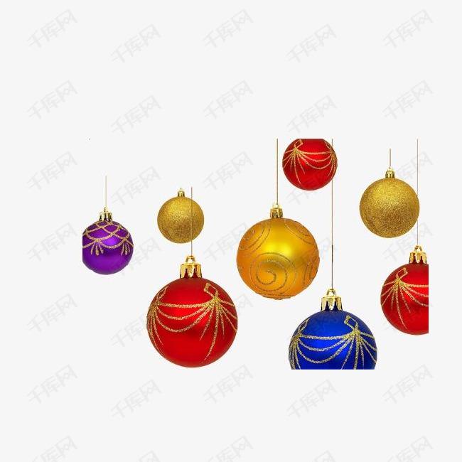 圣诞多彩圆球