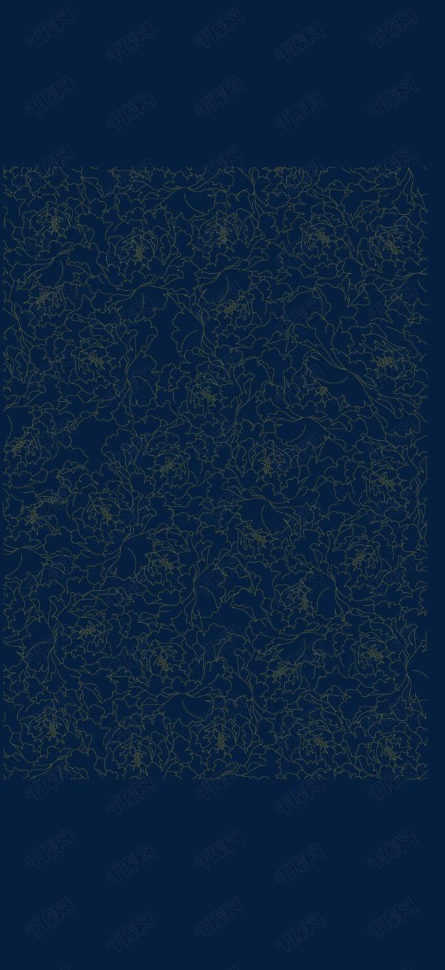 中国风复古花纹底纹