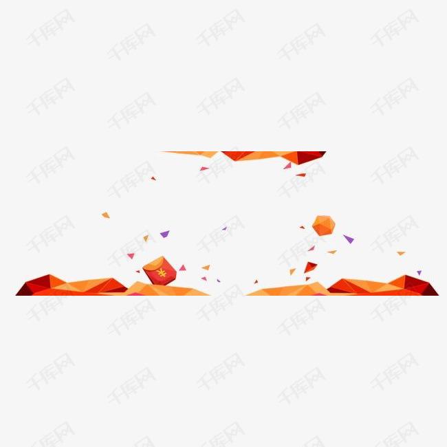 橙色扁平元素