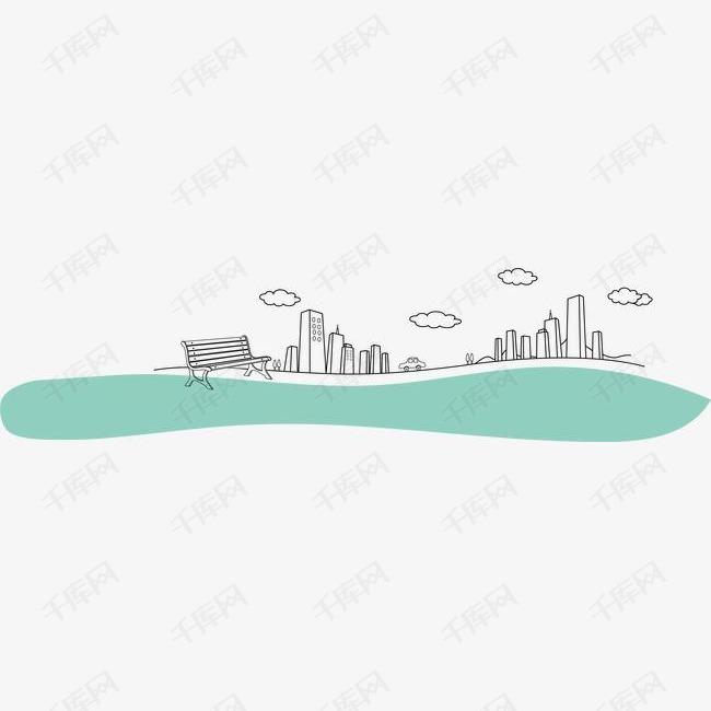 卡通手绘城市