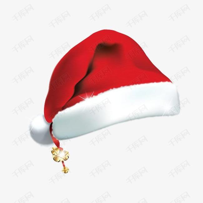 圣诞节圣诞老人帽子透明元素素材