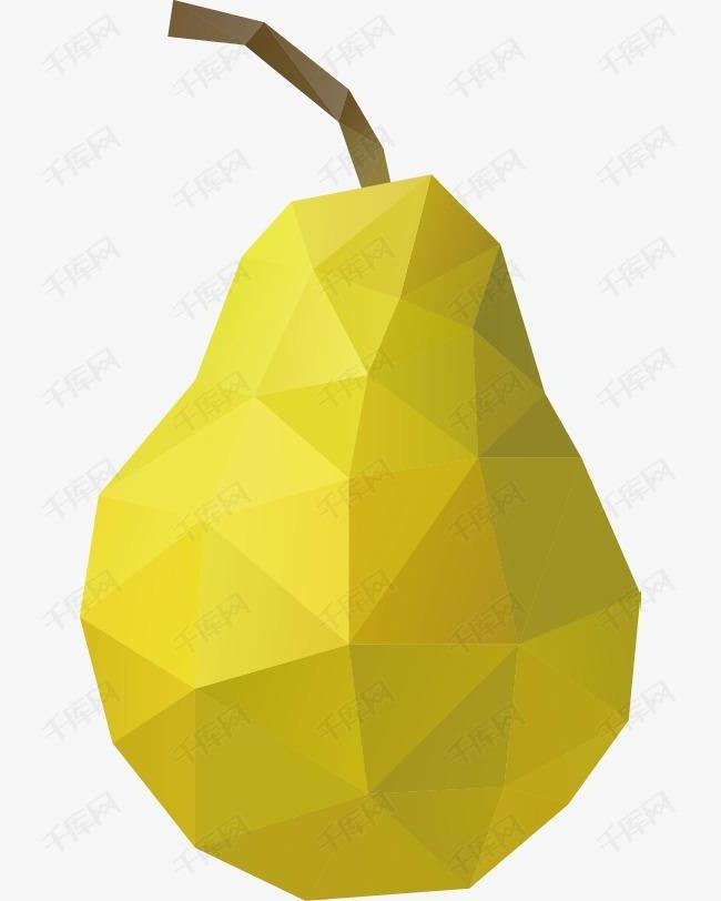 精美马赛克水果梨