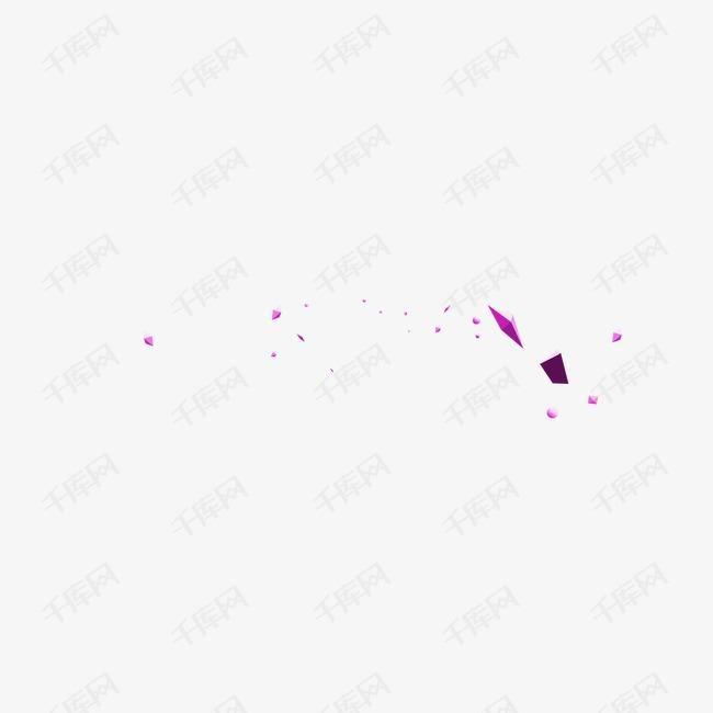 紫色几何立体块不规则
