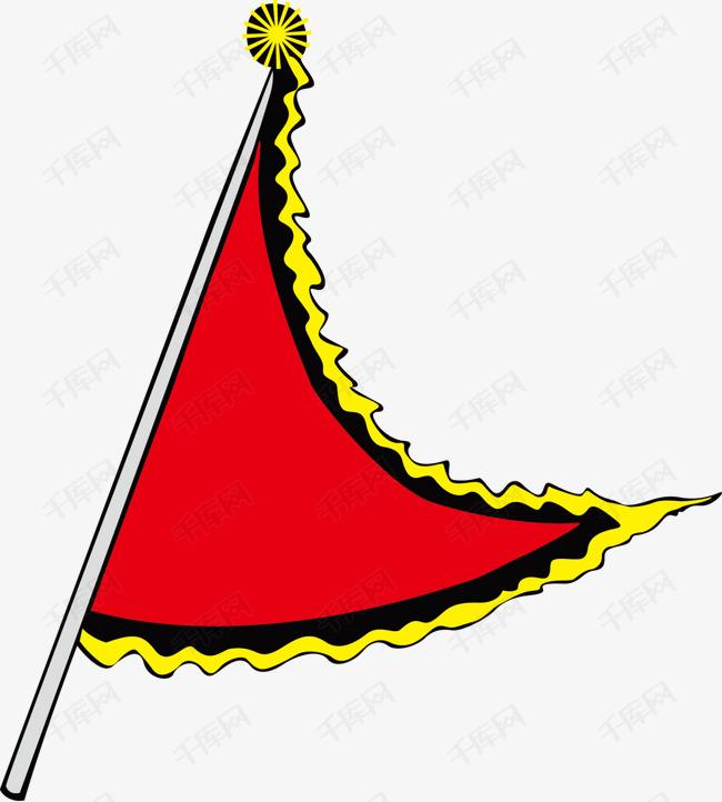卡通手绘三角旗帜