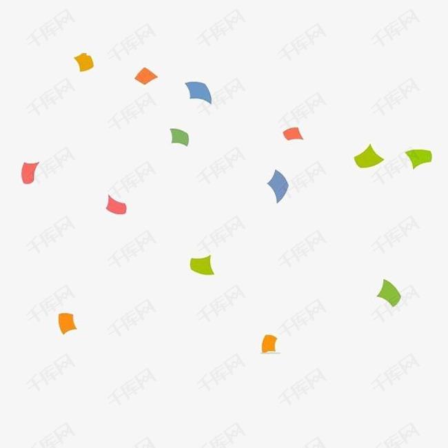 多彩元素漂浮