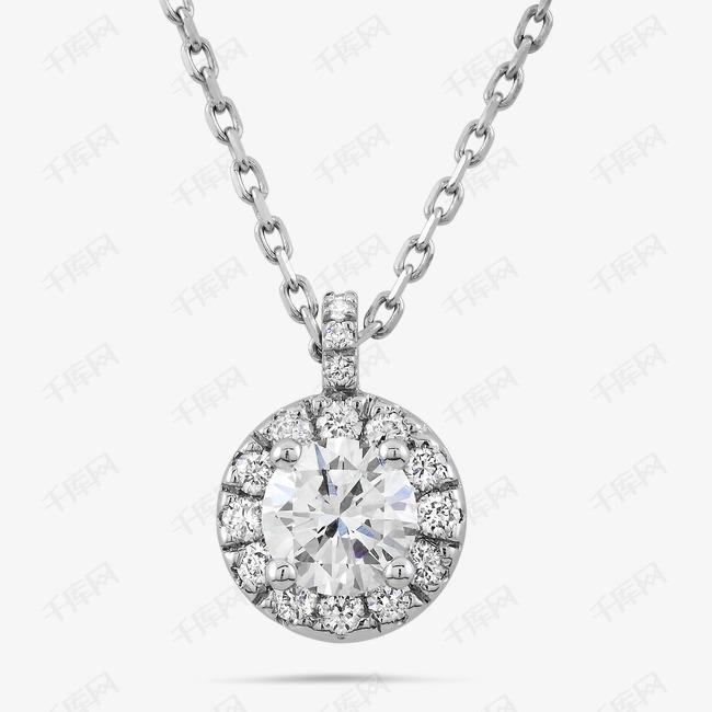 圆形钻石项链