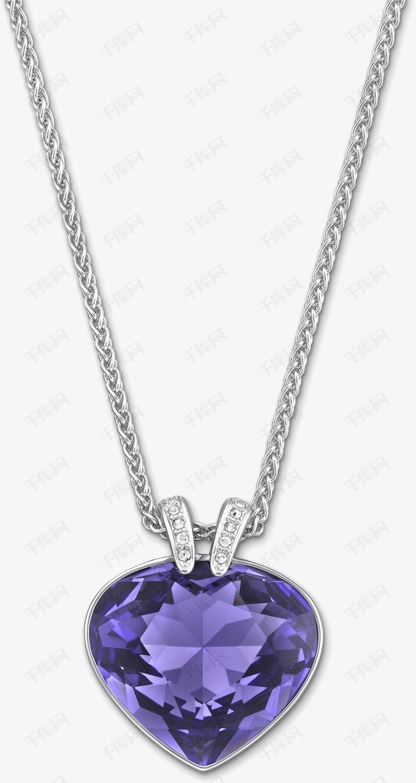 紫色钻石项链