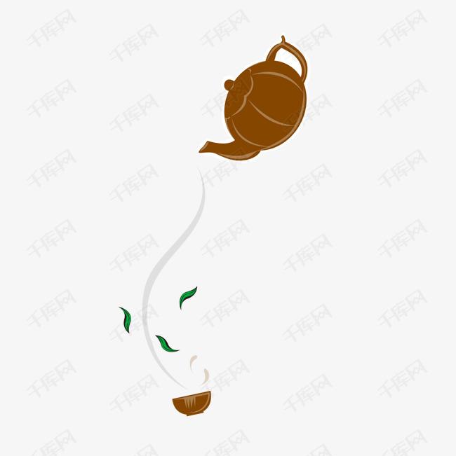 卡通美食餐饮茶壶