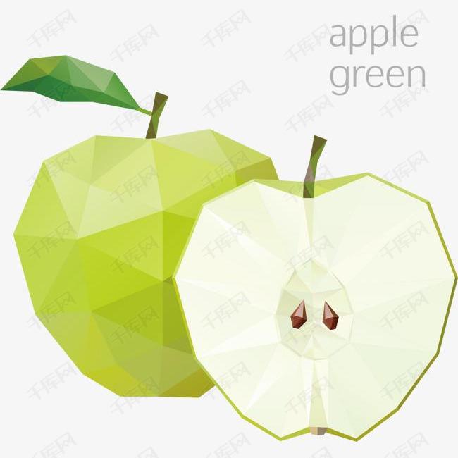 精美马赛克水果苹果
