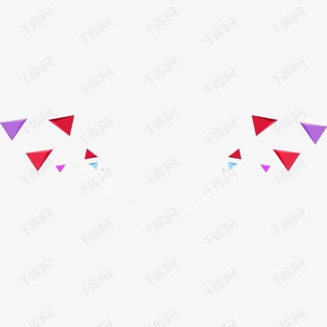 三角形漂浮元素