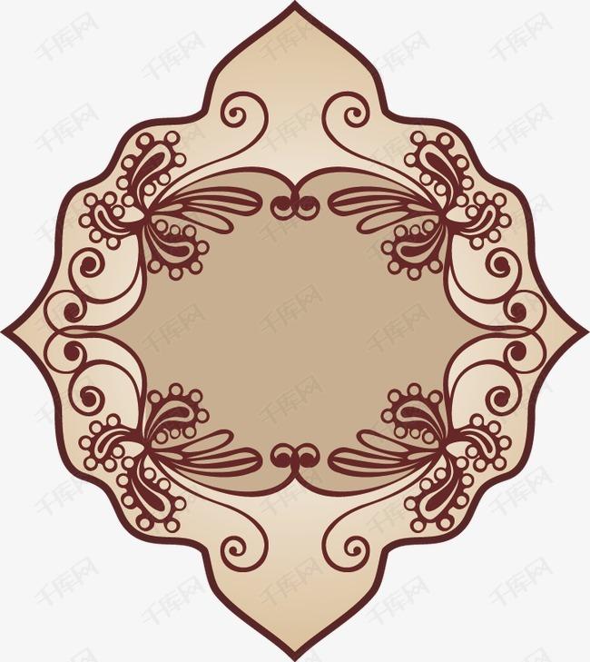 欧式花纹边框装饰