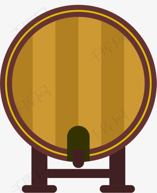 圆形立体风格矢量酒桶
