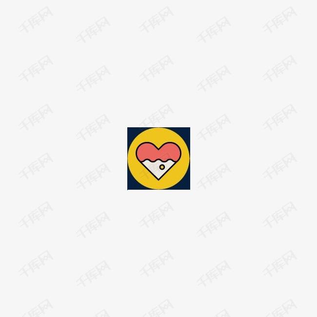 情人节图标手绘
