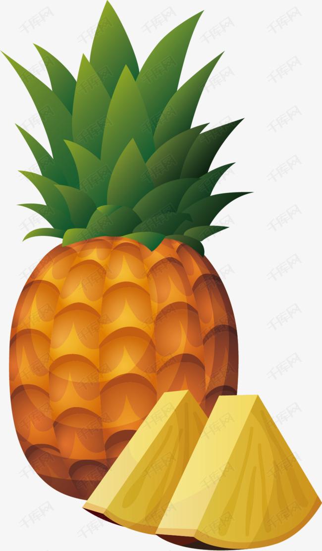 手绘卡通菠萝