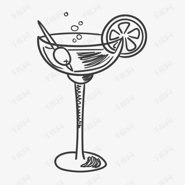 卡通手绘精美鸡尾酒
