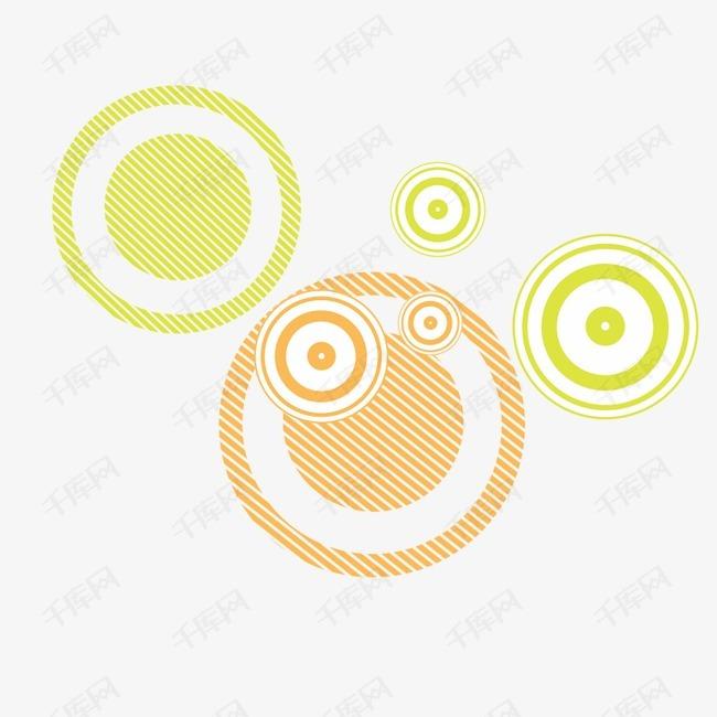 几何彩色圈圈