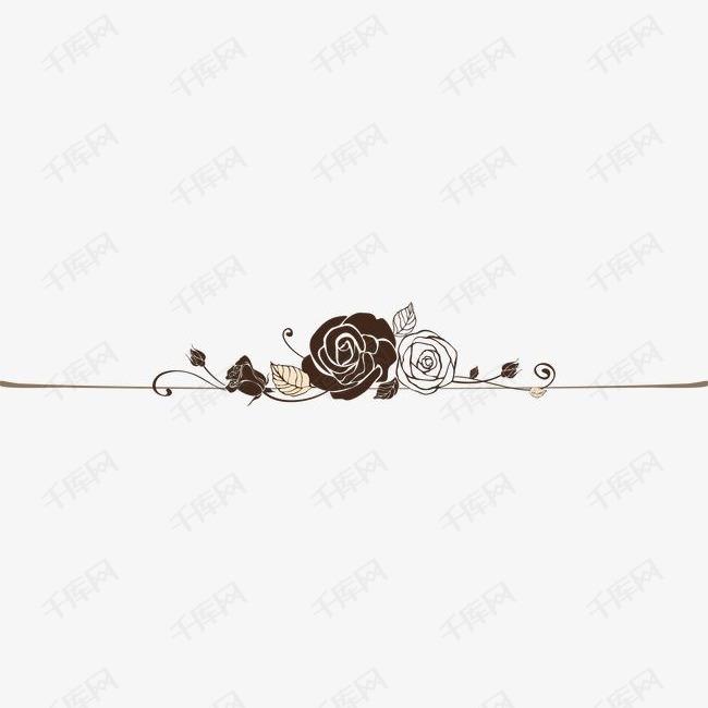 古典玫瑰花欧式花纹分割线
