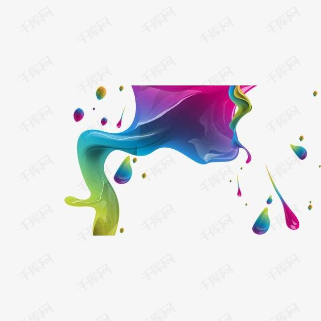 彩色墨迹元素
