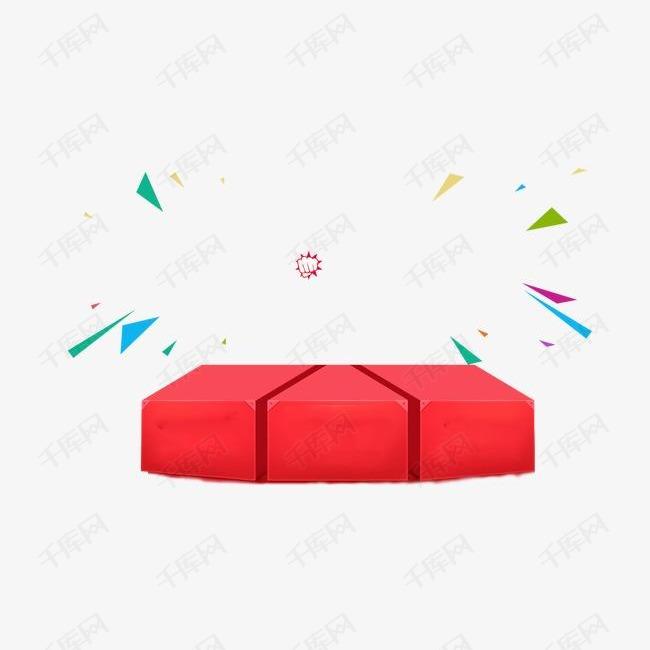 红色箱子图案