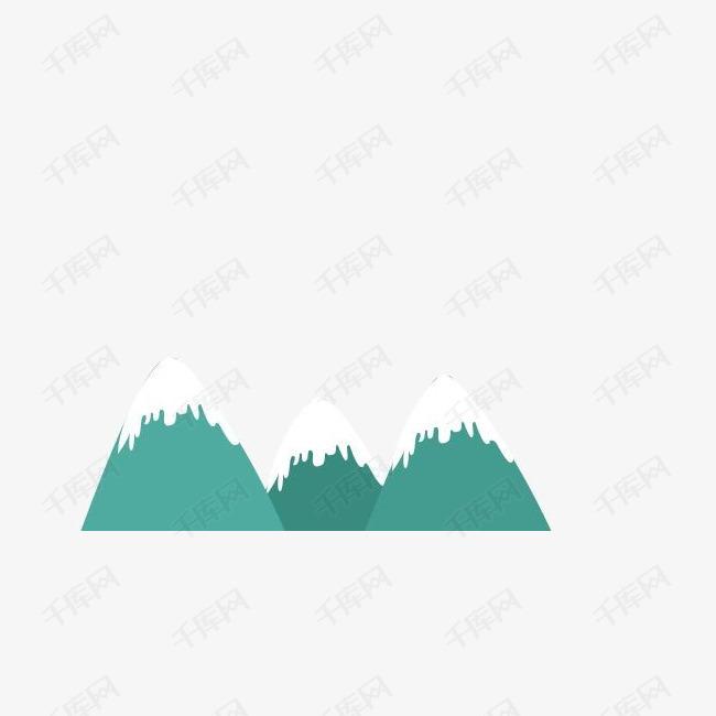 电商扁平山峰