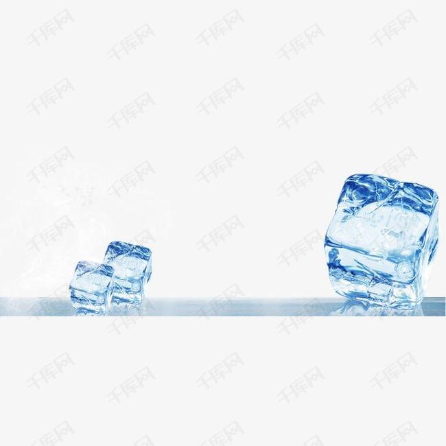清新冰块水面