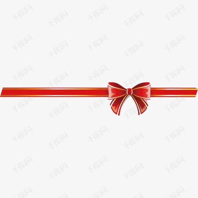 红色喜庆节日丝带蝴蝶结
