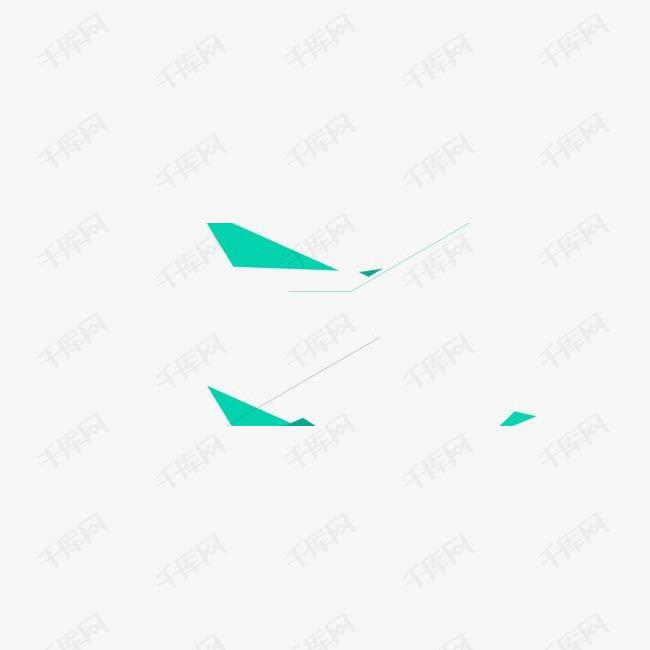绿色不规则形状