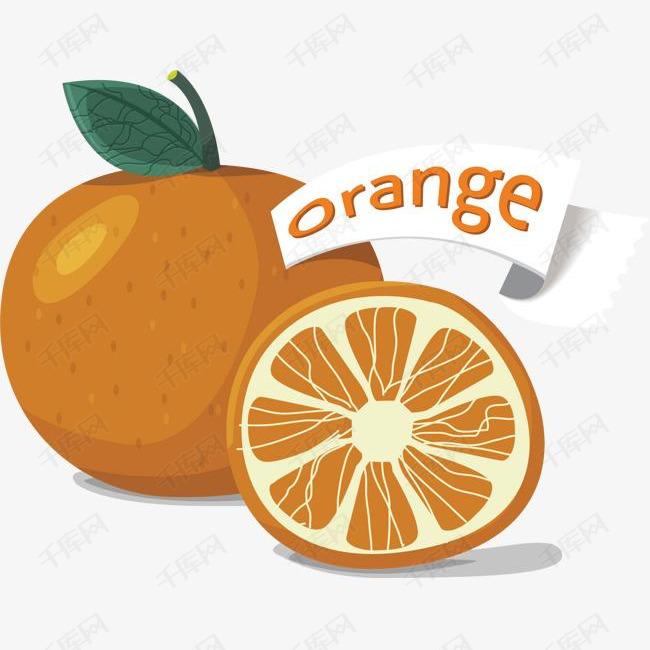 卡通手绘水果橘子