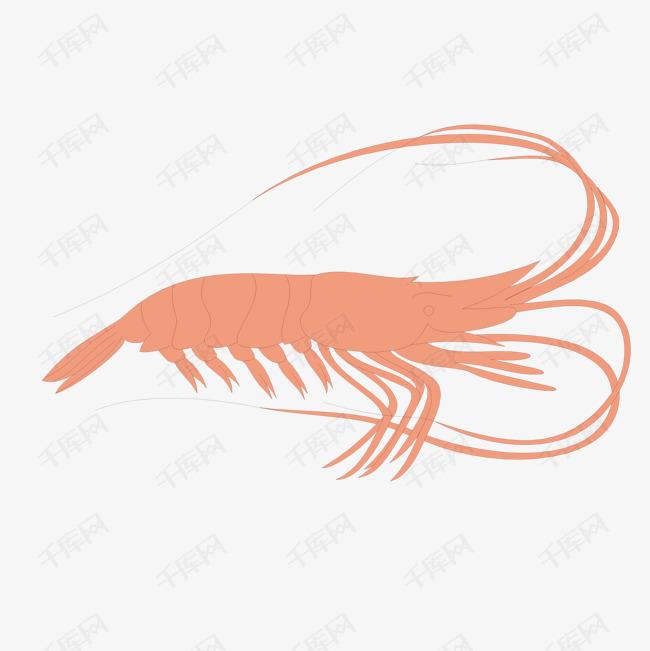 卡通手绘龙虾