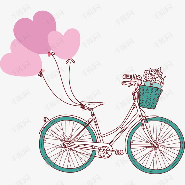 卡通可爱自行车气球
